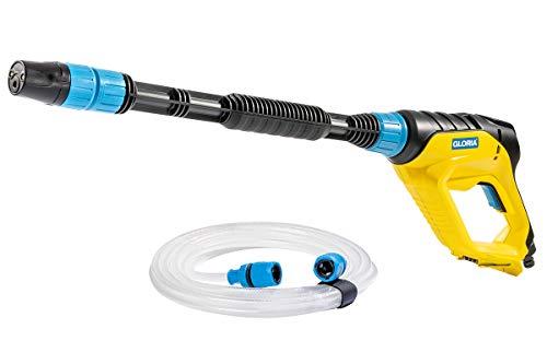GLORIA MultiJet 18V - Multifunktionales Akku-Sprühsystem | Nutzbar als Reiniger, Schaumpistole, Pflanzenschutz-Sprüher, Oberflächenbürste | 4-in-1 Düse, 40cm Lanze, 5m Schlauch | 18V BOSCH Akku nötig