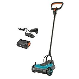 Set tondeuse à gazon sans fil HandyMower 22/18V P4A GARDENA, prêt à l'emploi: Tondeuse manuelle, pour pelouse jusqu'à 50m², hauteur de coupe réglable, avec batterie 18V P4A (14620-20)