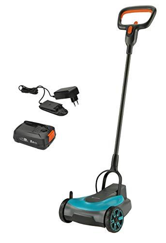 GARDENA Akku-Rasenmäher HandyMower 22/18V P4A Ready-To-Use Set: Handrasenmäher, für Rasenflächen bis zu 50 m², Schnitthöhenverstellbar, inkl. 18V P4A Akku (14620-20)