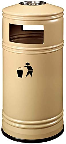 SDGDFGD Mülleimer Kreative Außen Dustbins Large Hotel Restaurant mit Aschenbecher Trash Can Mall Park Waste & RecyclingCompost Papier Lagerplätze Abfall Recycling Bins Abfallbehälter