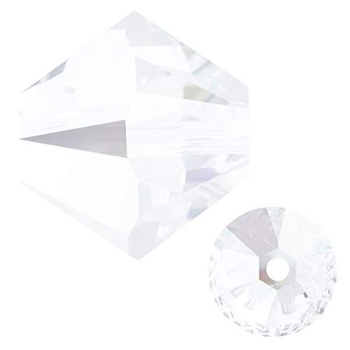 Swarovski Crystal, 5328 Crystal Bicone Beads, 6mm, Crystal, Pack of 72