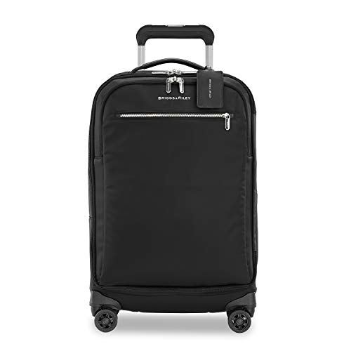 Briggs & Riley Rhapsody-Softside Spinner Luggage, Black, Tall Carry-On 22-Inch