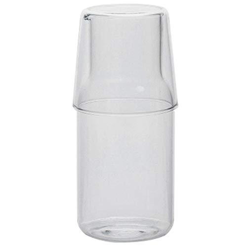 Fransande Caraffa per Acqua con Bicchiere Bicchiere per Bottiglia di Acqua Calda Fredda Set di Tazze Brocca d'Acqua da Comodino Bottiglia Resistente alle Alte Temperature
