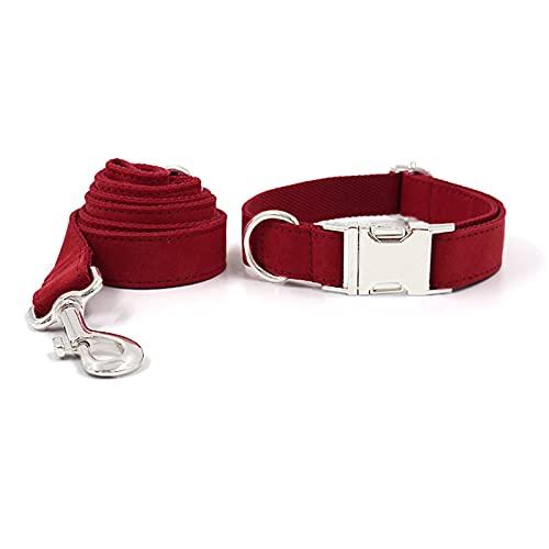 ZZCR Collar De Perro Mascota Conjunto De Correa Collar De Perro Pequeño Y Mediano Collar De Seguridad Collar Suave Collar De Hebilla Collar De Perro Rojo XS