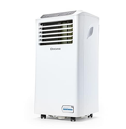 Daewoo DA9KWE Condizionatore Portatile - 9000 BTU - Climatizzatore d'Aria Mobile - 3 in 1 Deumidificazione, Raffreddamento, Ventilazione - Timer - Bianca