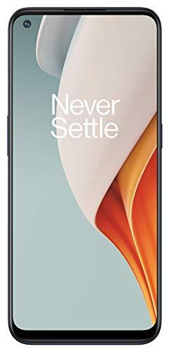 """OnePlus N100 Smartphone Display LCD HD + da 6,52 """", 4 GB di RAM + 64 GB di spazio di Archiviazione, Tripla Fotocamera, Batteria da 5000 mAh, Doppia SIM, 4G, Midnight Frost"""