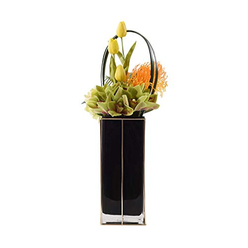 Artificial Flowers Nordic Modern Light Luxury Artificial Flower Pot Plant, Ceramic Vase Set, Hotel Family Wedding Decoration, Artificial Flower Artificial Plant Artificial Small Pot Fake Flowers