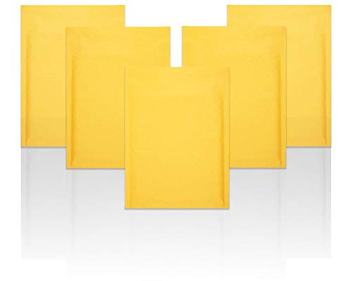 """Yellow Kraft Bubble mailers 6""""x9"""" Padded envelopes 6 x 9. Pack of 10 Kraft Paper Cushion envelopes. Peel & Seal. Mailing & Shipping & Packing & Packaging."""