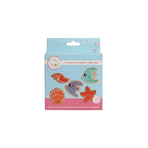Cake Star Cutter & Texture Mat Set - Under The Sea