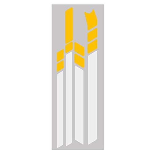 Bobotron - Pegatinas reflectantes impermeables de PVC para Ninebot MAX G30 Kickscooter (amarillo, blanco)