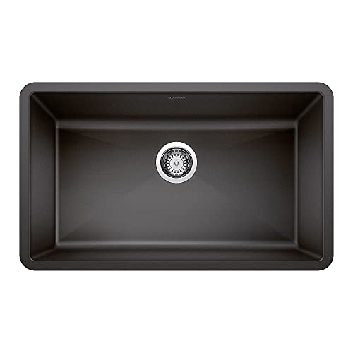 BLANCO, Anthracite 440149 PRECIS SILGRANIT Super Single Undermount Kitchen Sink, 32' X 19'