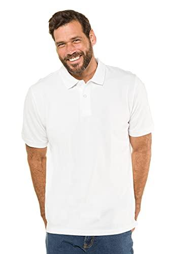 JP 1880 Herren große Größen Übergrößen Menswear L-8XL bis 8XL, Poloshirt, Oberteil, Knopfleiste, Hemdkragen, Pique, weiß 4XL 702560 20-4XL