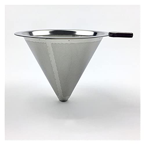 CXWHYPD Stainless Steel Coffee Filter Holder, Reusable Coffee Filter Drip Coffee (Color : Medium V F 402)