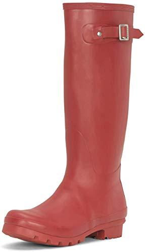 Polar Damen Original Tall Schnee Winter Regen Wellies Gummistiefel Stiefel - Dunkelrot - DRE40 ABL0029