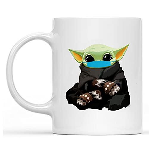 Bernie Mittens Mug, Funny Baby Yoda Mug Friend, Mom, Dad, Trending Gift Birthday, Coffee Mug 11oz-15oz