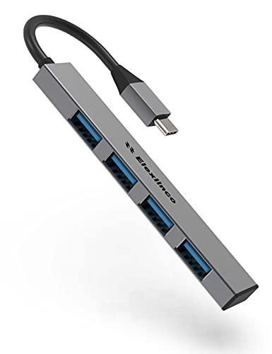 Hub USB C Ultra Sottile, 4 Porte USB 3.0 per iMac Pro, MacBook Air, Mac Mini Pro, Computer Portatile PC (Grigio Spazio)