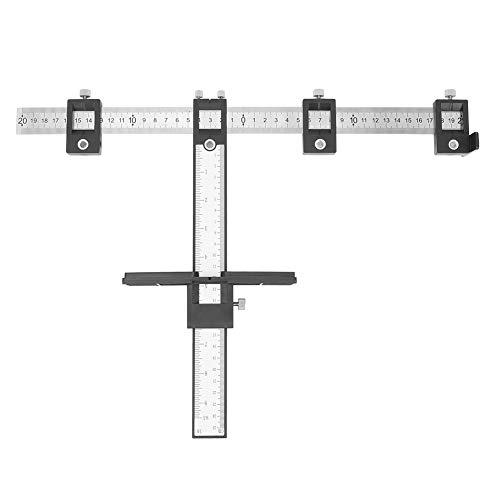 Plantilla de hardware de gabinete de alta precisión multifunción ajustable mango perforador localizador de perforación pulgada MM plantilla de taladro para los fabricantes de gabinetes