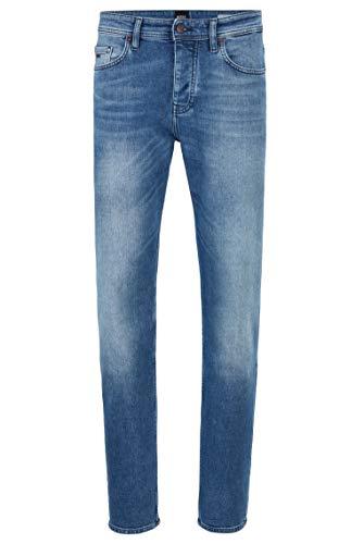 BOSS Herren Taber BC-C Tapered-Fit Jeans aus komfortablem Stretch-Denim