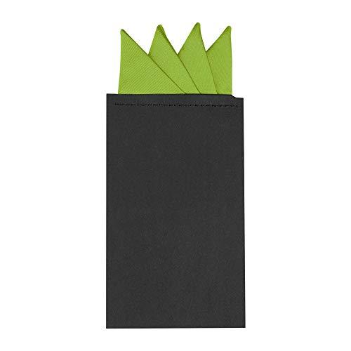 Allegra K Pañuelo de bolsillo para hombre, preplegado, con diseño de triángulos sólidos
