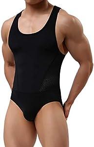 Arjen Kroos Hombre Maillot Leotardo Ropa Interior Deportiva Sexy Bodysuit Deportivo de Hombre para Gimnasia Danza Bañador Bodies Elásticos