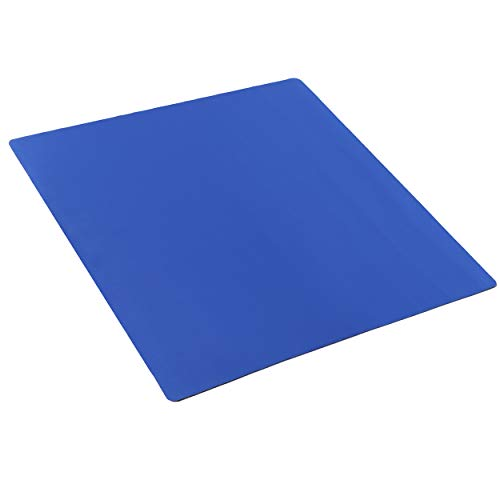 Jigitz Table Game Mat, Blue - Board Game Table Cover Mat, Playing Card Poker Games Square Table Mat 32.6in x 32.6in
