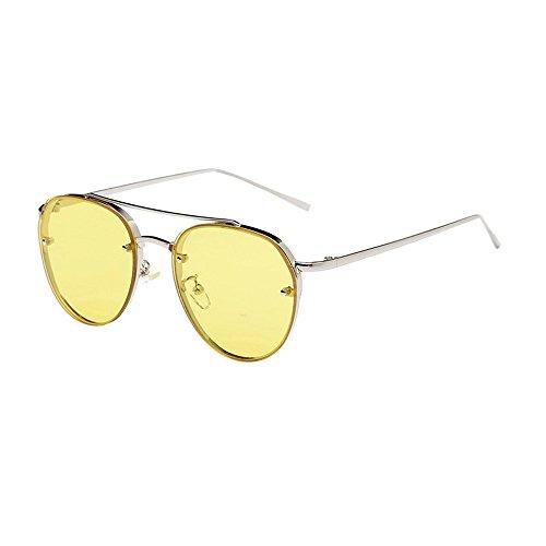 Ifoundyou Sonnenbrille, modern, geometrisch, Metall, schlanke Form, polarisiert, flach, sechseckig, für Damen und Herren Gr. Einheitsgröße, Mehrfarbig 131f.