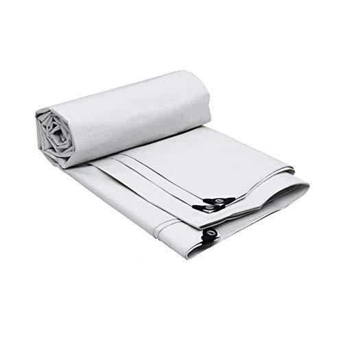 Zeltplanen CJC Zelt Regenfest Plane Boden Blatt Abdeckungen 175g/m² Weiß PE (Farbe : T1, größe : 5x4m)
