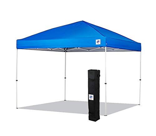 E-Z UP ENV3WH10RB, 10' x 10', Roller Bag, 4-Piece Spike Set, Recreational Grade Royal Blue Top NEW Envoy EZ UP Instant Canopy Shelter Tent, 10' by 10'