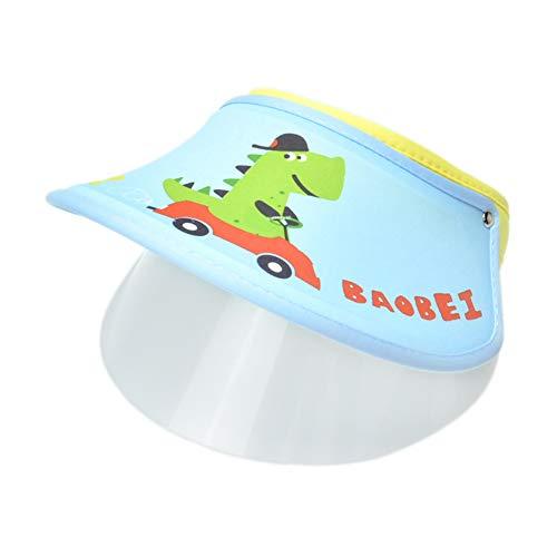 Happy Cherry Visor cap Tennis Golf Berretto Anti-Fog UV Regolabile Cappellino Bambini Cappello con Trasparente Visiera - Blu 1