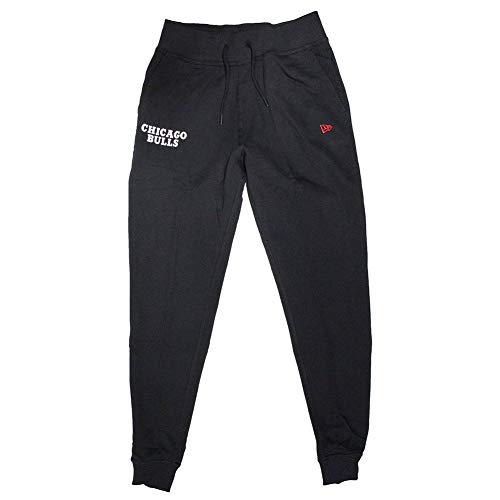 A NEW ERA Pantaloni Nba Chicago Bulls Team Apparel Jogger nero formato: L (Large)