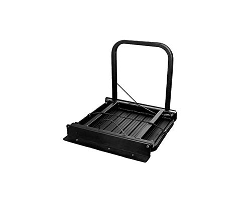 Great Day Truck N' Buddy Folding Tailgate Step/Seat Platform for Work Flatbed Trucks and Equipment Trailers - 300 lbs Weight Capacity - Black Powder-Coated Finish, TNB2000B