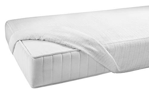 Gabel Jersey Coprimaterasso, Cotone, Bianco, 90 x 200 x 0.4 cm