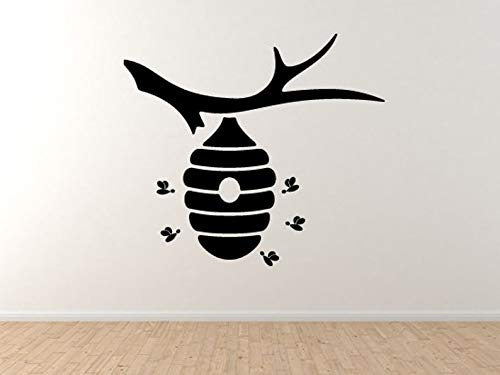 Bee Icon #7- Boom Hive Honing lokale kolonie Nectar Honingraat muur Vinyl Decal Home Decor