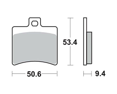 Bremsbeläge TRW MCB710EC für APRILIA RS 125 SF 06- (hinten)