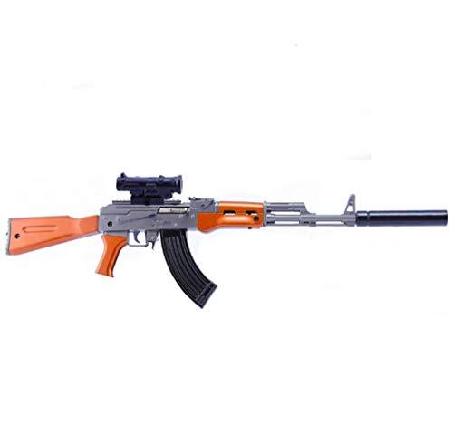 DJIEYU 1/4 Escala militar militar miniatura AKM AK47 fusil de asalto pistolas de metal modelo de pistola figura accesorios de juguete llavero Die Cast decoración juguetes