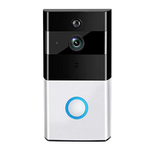 Noblik Timbre De Puerta Video WIFI, Timbre De Puerta Inteligente Cámara De Seguridad Con Lente Gran Angular 720P HD Con Conversación Bidireccional En Tiempo Real, Para IOS Y Android