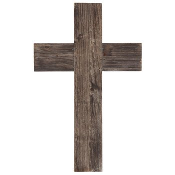 Mardel Plain Reclaimed Wood Wall Cross, Natural, 9 1/2 x 15 x 1/2 inches