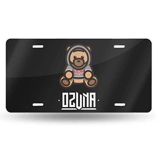 MYGED Metal Particular Ozuna Bear License Plate Car Accessories 6' X 12'