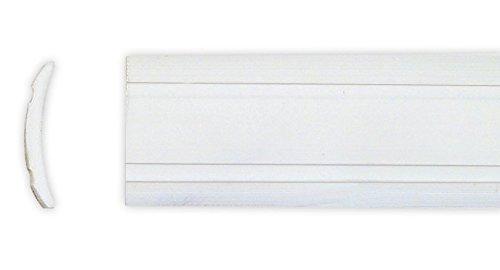 Leistenfüller uni weiß 12 mm breit