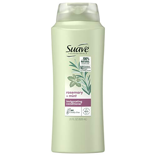 Suave Professionals Invigorating Conditioner for Dry, Damaged Hair Rosemary and Mint Paraben-free and Dye-free Deep Hair Conditioner 28 oz