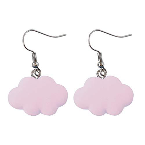 teng hong hui Women Cloud Shape Earrings Girls Resin Ear Hook ear stud women Alloy Stud Earring Jewelry Holiday Birthday Gift