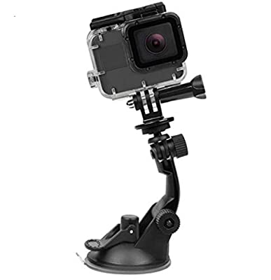 TEKCAM Suction Cup Mount Compatible with Gopro Hero 8 7 6 APEMAN/AKASO/Campark/Victure/Crosstour/COOAU 4k Outdoor Action Camera (Camera Not Included) by TEKCAM