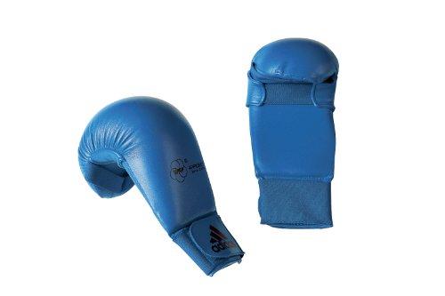 Karate Kumite Faustschützer / Handschutz / Faustschutz Adidas WKF blau Gr. S