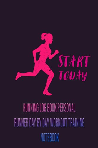 Running Log Book Personal Runner Day By Day Workout...