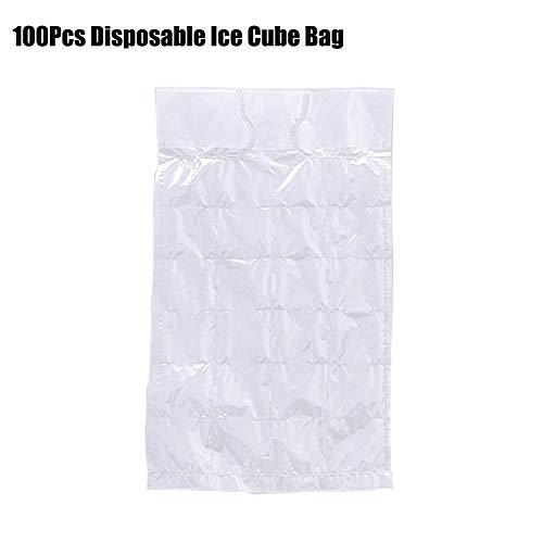 SNIIA Einweg-Eiswürfelbeutel, 100 Stück Eisformen Selbstklebende Eiswürfelformschalen Kein eigenartiger Geruch Eisform-Gefriermaschine