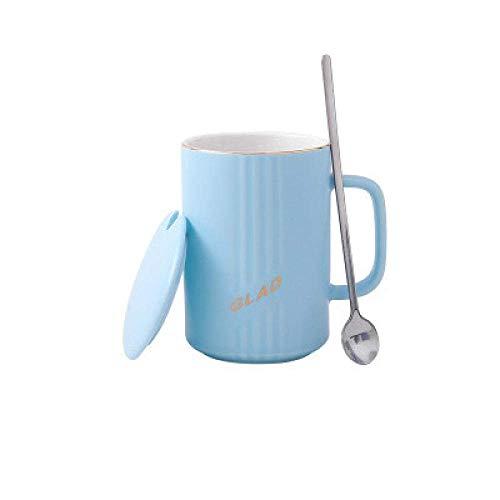 MUMUMI Tazas de Agua, Taza de Cerámica Pareja Copa de Café Taza de Consumición 300Ml,Azul Claro,300Ml