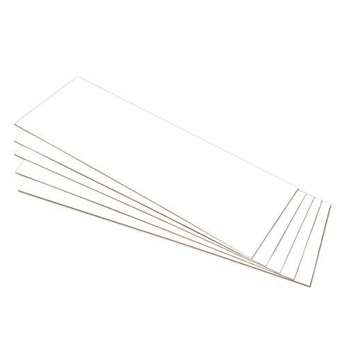 Tablero MDF Blanco para decoración, manualidades, marquetería - 75 x 25 cm - Grosor 2,5 mm - 5 unidades