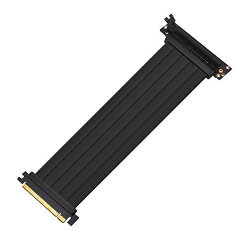 EZDIY-FAB All New PCI Express 16x Flexibles Kabel Karten Verlängerung Port Adapter High Speed Riser Card-30cm 90 Degree-Upgrade Version