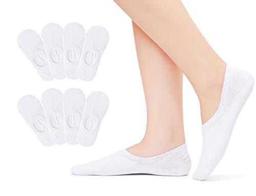 Falechay Sneaker Socken Füsslinge Damen 35-38 Baumwolle No Show Ballerina Unsichtbare Socken...