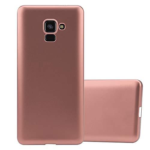 Cadorabo Hülle für Samsung Galaxy A8 2018 in METALLIC ROSÉ Gold - Handyhülle aus flexiblem TPU Silikon - Silikonhülle Schutzhülle Ultra Slim Soft Back Cover Hülle Bumper
